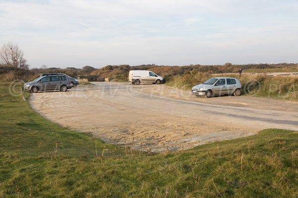 Parking de la plage de Merville Franceville - Calvados
