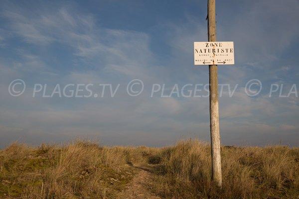 Naturist beach in Merville Franceville (Calvados)