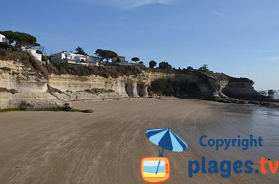 Meschers sur Gironde beach with cliffs - France