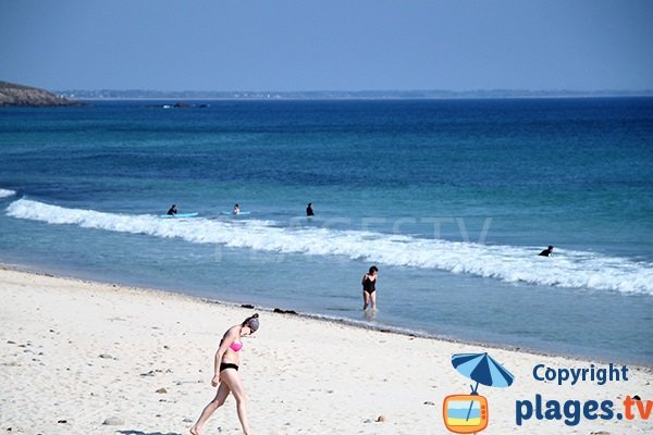 Plage pour le surf dans le Finistère