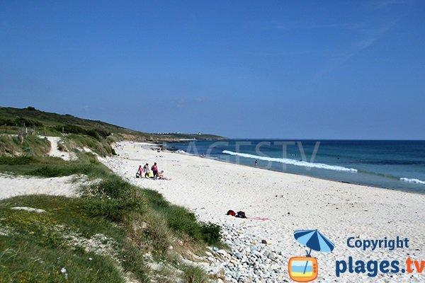Plage et dune de Mesperleuc à Plouhinec