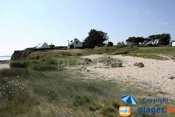 Environnement de la plage de Mesperleuc à Plouhinec
