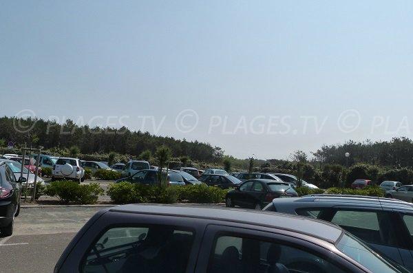 Parking gratuit de la plage du Métro à Tarnos