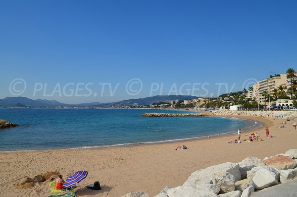 Midi beach in Cannes in France