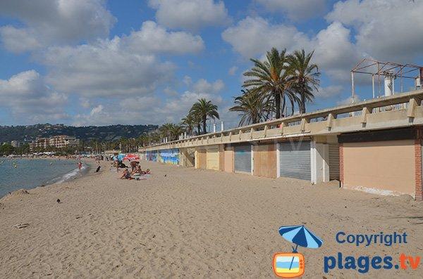 Anciennes plages privées de Golfe Juan