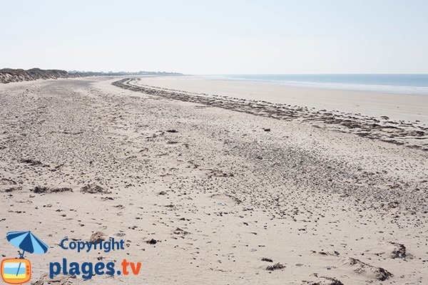 Photo de la plage de la Mielle de la Hougue Blanche à Glatigny - 50