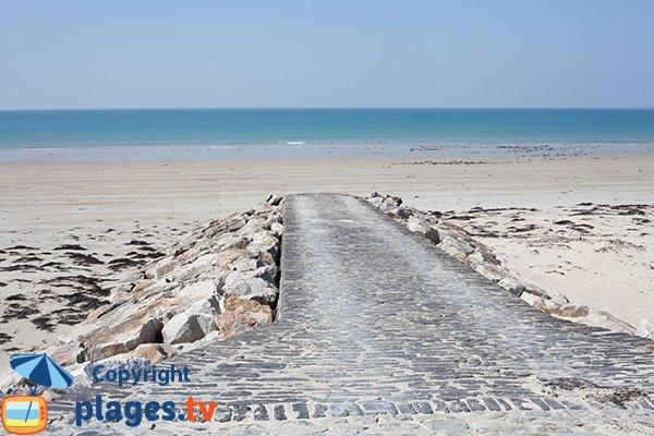 Cale de la plage de la Mielle de la Hougue Blanche à Glatigny