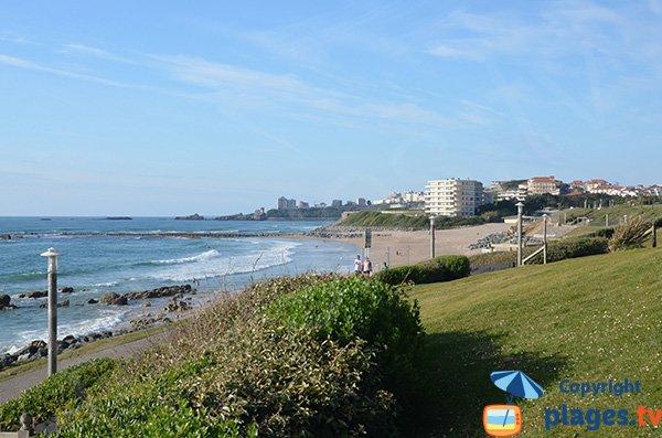 Milady beach in Biarritz in France