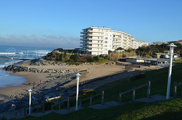 Stairs of Milady beach - parking Ilbarritz