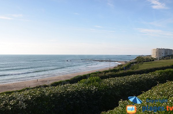 Photo of Milady beach in Biarritz in France