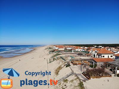 Mimizan-Plage avec sa plage et le bord de mer