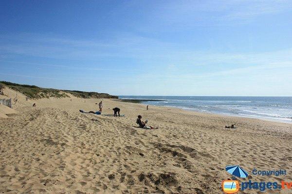 Mine beach in Jard sur Mer