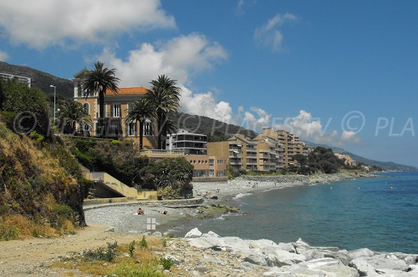 Photo de la plage de Toga à Ville-di-Pietrabugno au nord de Bastia