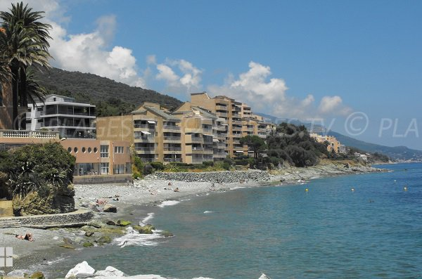 Plage de Minelli au nord de Bastia