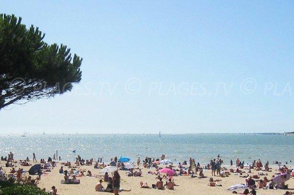 Minimes beach in La Rochelle in France