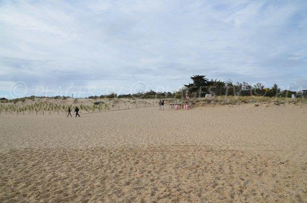Accès à la plage du Mirador au Cap Ferret