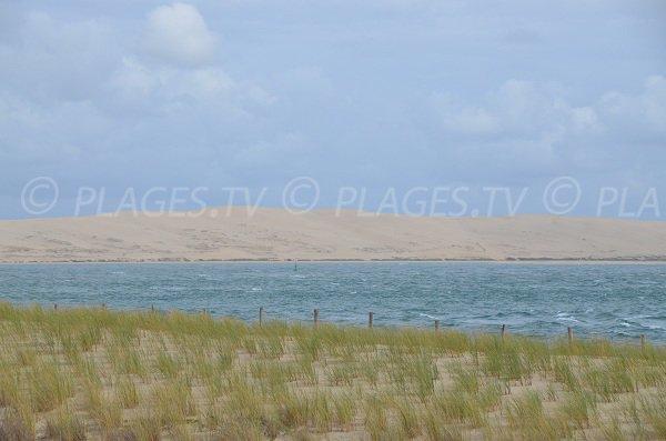 Vue sur la dune du Pilat depuis le restaurant du Mirador