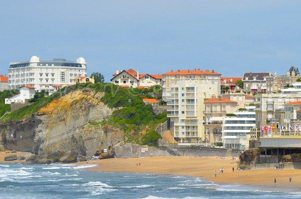 Plage de Miramar après la Grande Plage de Biarritz