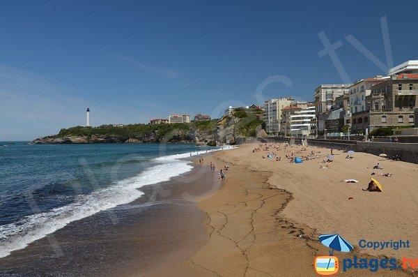 Miramar beach in Biarritz in France