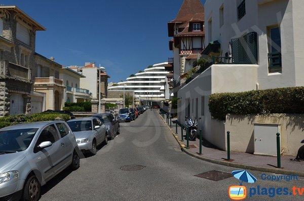 Accès à la plage de Miramar de Biarritz