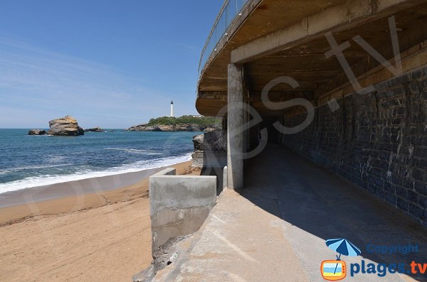Miramar access beach from the Grande Beach - Biarritz