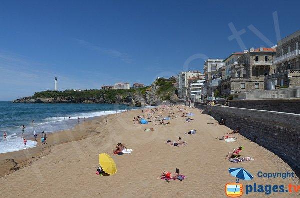 Photo de la plage de Miramar à Biarritz