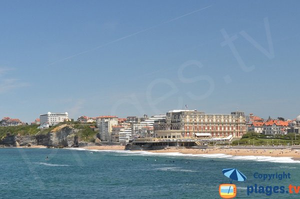 Plage de Miramar et Grande Plage de Biarritz