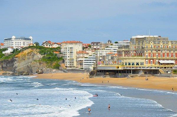 Miramar and Main beaches in Biarritz