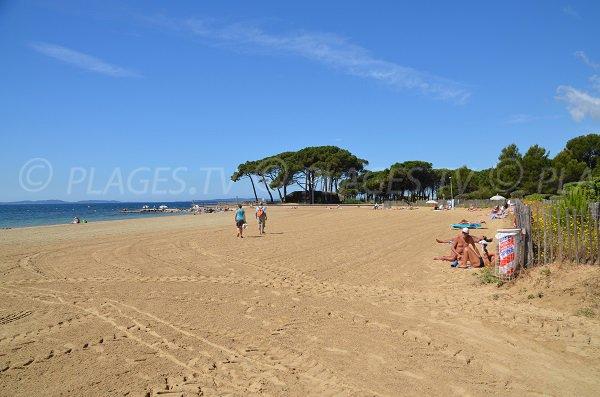 Miramar beach in La Londe les Maures - France