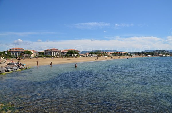 Overview of Miramar beach in La Londe les Maures - South of France