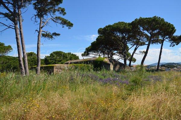 Bunker on the Miramar beach in La Londe des Maures