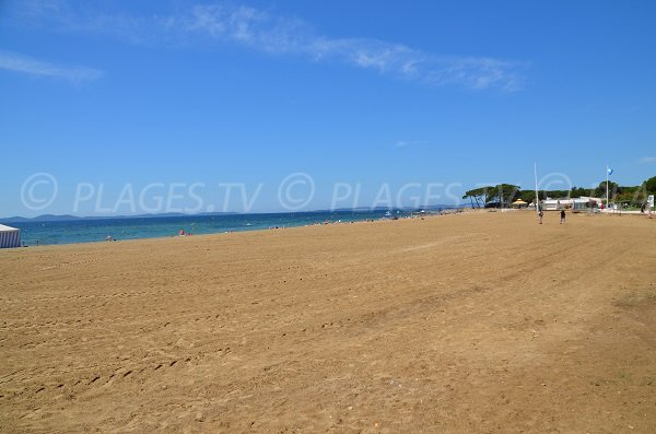 Large beach in La Londe les Maures in France