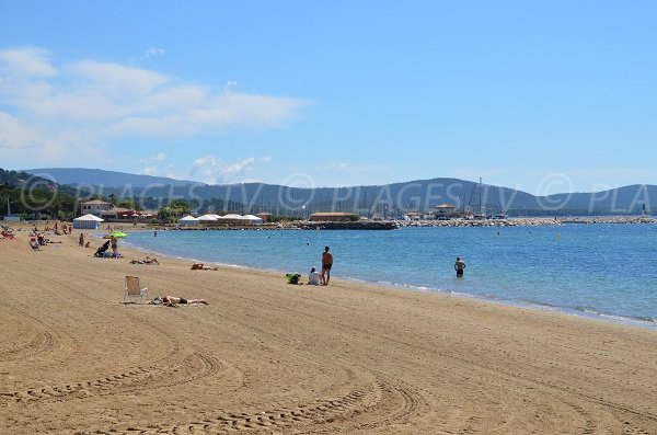 Beach in La Londe les Maures near the port of Miramar