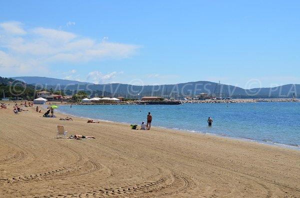 Beach in La Londe les Maures near the port of Miramar