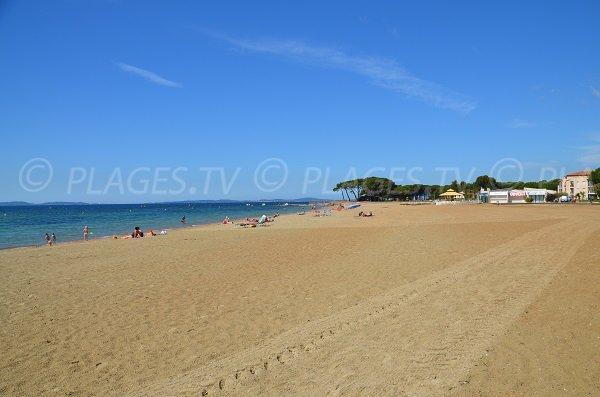 Miramar beach in La Londe les Maures in France
