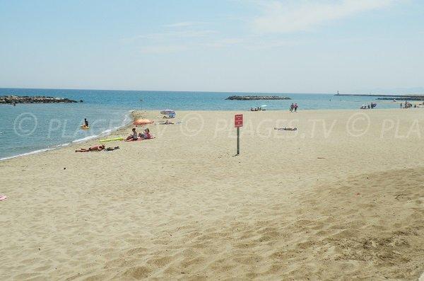Beach near the Lido of Port Barcarès