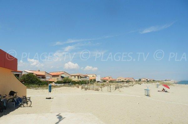 Environment of Miramars Beach in Port Barcarès