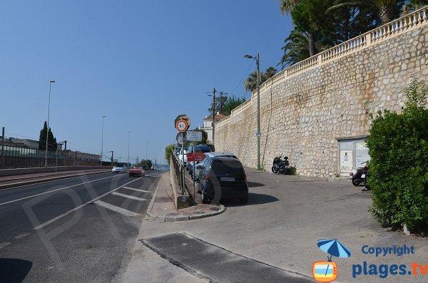 Parking de la plage de la Mirandole - Vallauris
