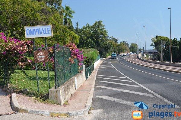 L'accesso alla spiaggia Mirandola a Vallauris - Golfe Juan