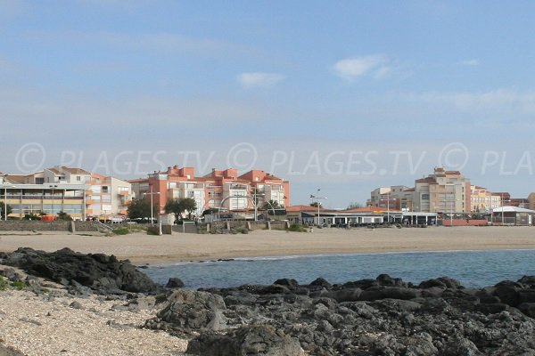 View from the Falaises beach on the Mole Beach - Cape d'Agde