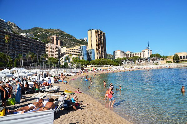 Photo des plages privées de Monaco