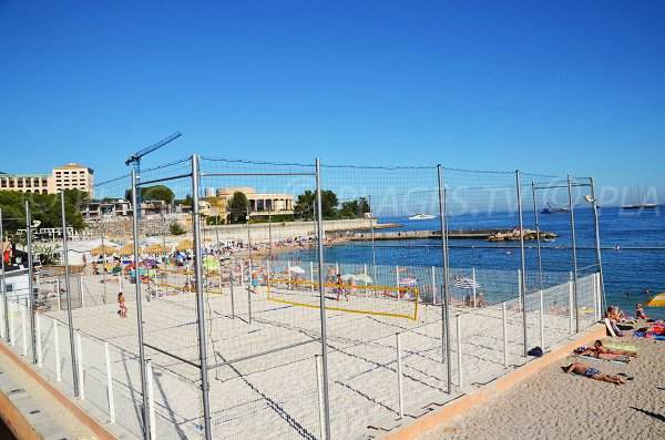 Beach volley sur la plage de Monaco