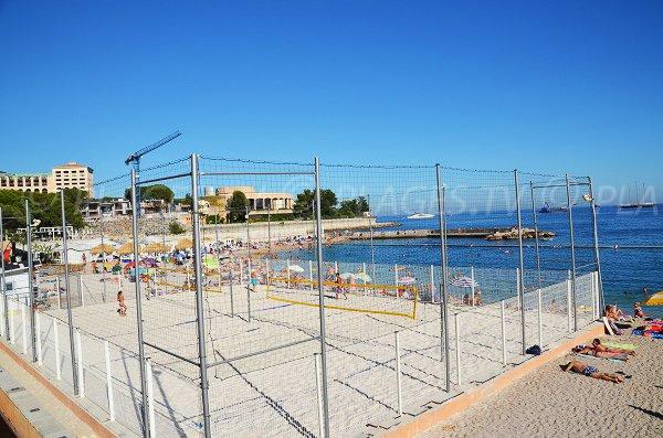 Beach volley on the Monaco beach