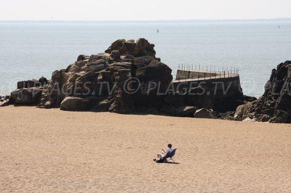 Promontoire sur la plage de Mr Hulot à Saint Nazaire