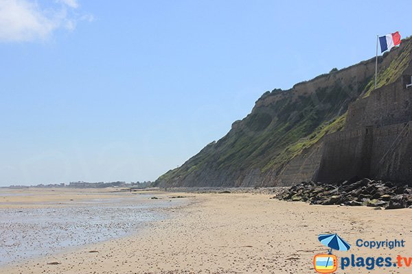Cliffs of Arromanches beach - France