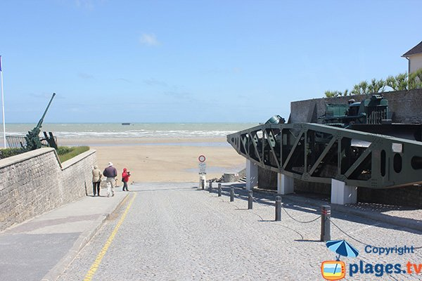 Ramp of Montgomery in Arromanches les Bains