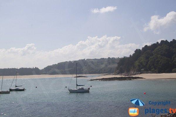 Plage de Montiers à Erquy et plage des Sables d'Or