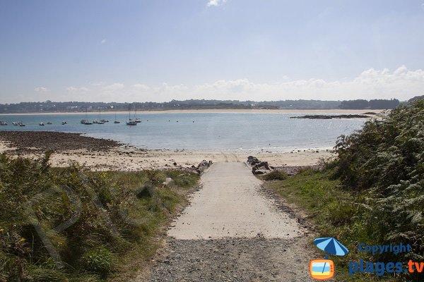 Rampe de mise à l'eau sur la plage des Montiers