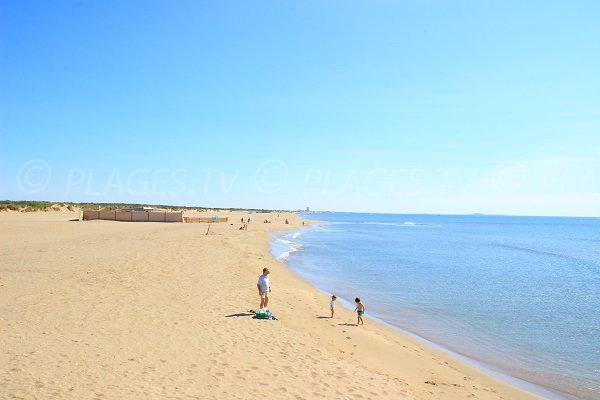 Spiaggia Vendres al molo di Aude