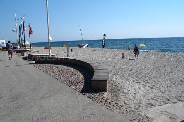 Esplanade in Moriani-Plage - Corsica